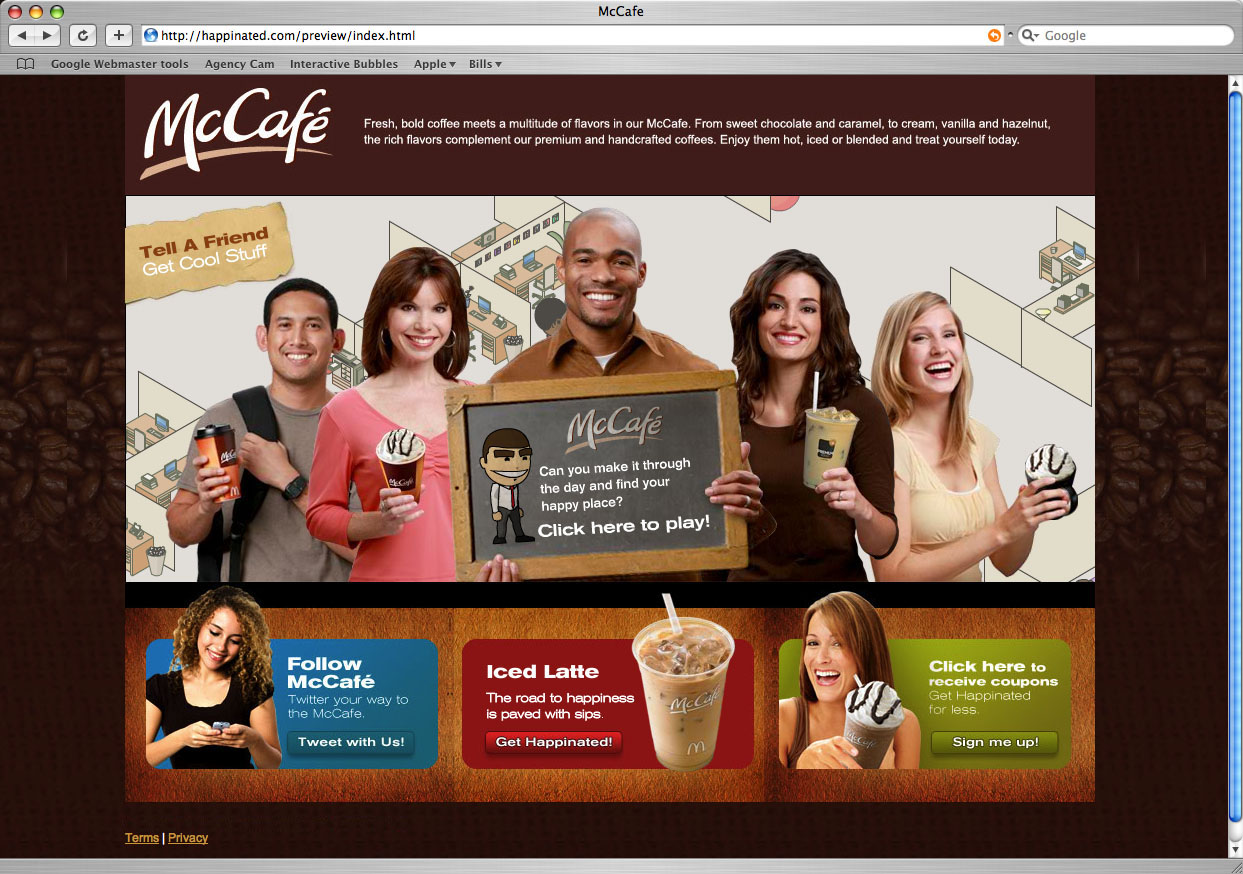 McDonald's McCafe – Website